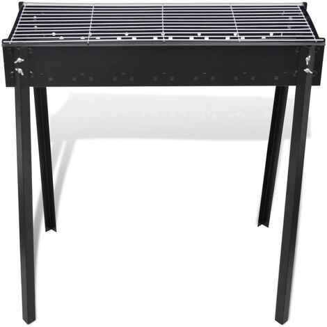 BBQ Stand Charcoal Barbecue Square 75 x 28 cm QAH26217