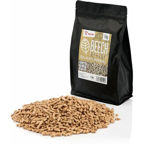 BBQ-Toro 1 kg Beech pellets made of 100% beech wood Beech pellets