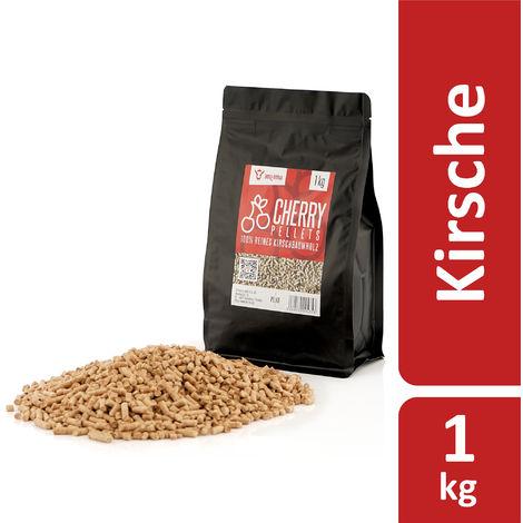BBQ-Toro 1 kg cherry pellets made from 100% cherry wood Cherry pellets
