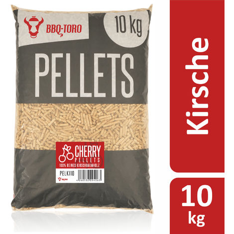 BBQ-Toro 10 kg cherry pellets made of 100% cherry wood | Cherry pellets