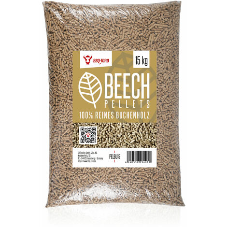 BBQ-Toro 15 kg Beech pellets made of 100% beech wood Beech pellets