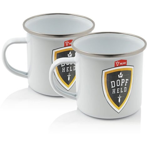 BBQ Toro 2x Dopfheld Enameled mug - 350 ml