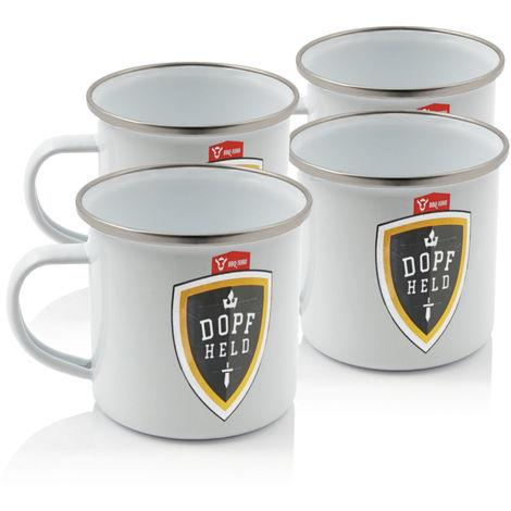 BBQ Toro 4x Dopfheld Enameled mug - 350 ml