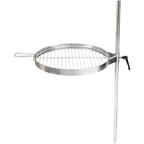 BBQ-Toro barbecue area with grillage and ground spike Device for grilling