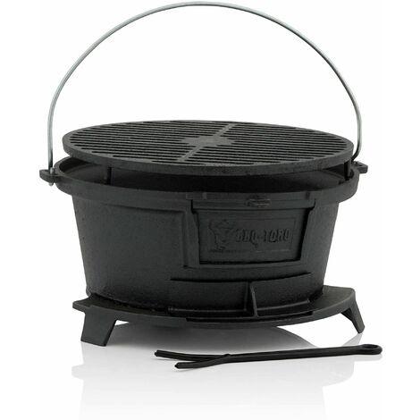 BBQ-Toro Barbecue en fonte avec grille   32 x 33 x 18 cm   Hibachi Style