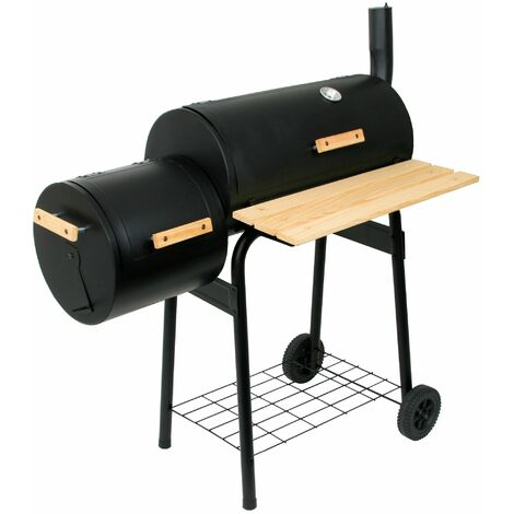 BBQ-Toro Barbecue Smoker Grill   Charbon de bois avec boîte à feu   Combinaison BBQ Grill Smoker, Barbecue Cart Charcoal Grill avec Smoker