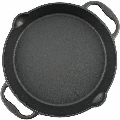BBQ-Toro cast iron grill pan Ø 30 cm - serving pan with spout