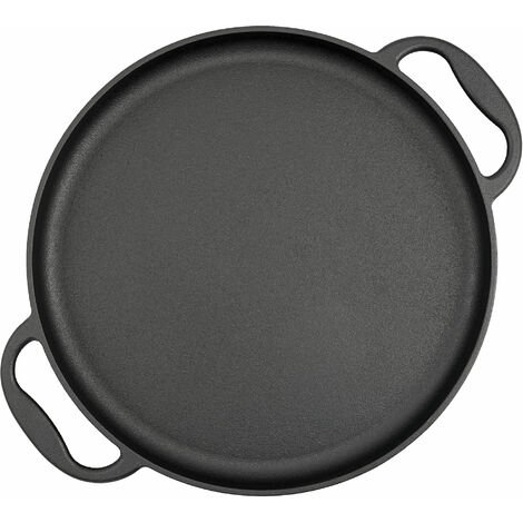 BBQ-Toro cast iron grill pan Ø 35 cm - serving pan, grill plate