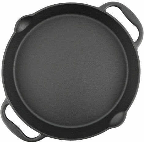 BBQ-Toro cast iron grill pan Ø 35 cm - serving pan with spout