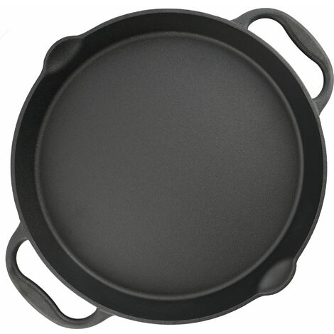 BBQ-Toro cast iron grill pan Ø 40 cm - serving pan with spout