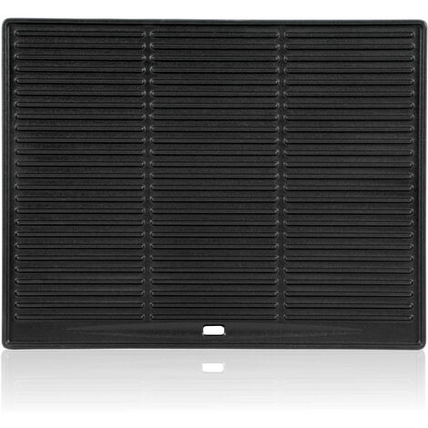 BBQ-TORO cast iron grill plate, 45.5 x 35 cm, enamelled, for gas grill