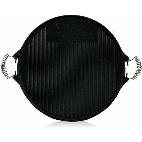 BBQ-Toro cast iron grill plate with handles | Ø 43 cm | Enamelled