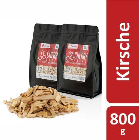 BBQ-Toro Cerise Chips pour Fumeurs | 800 g | Copeaux de fumée en bois de cerisie