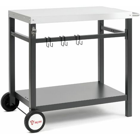 BBQ-Toro Chariot pour barbecue 85 x 50 x 81 cm | Table d'appoint