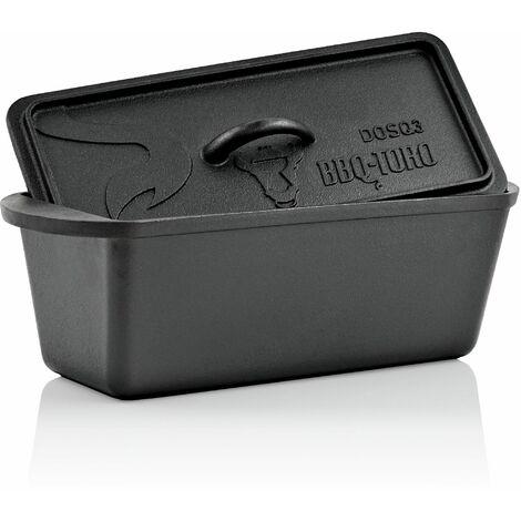 BBQ-Toro Dutch Oven Backtopf, 3,0 Liter, Gusseisen Kochtopf, Gusstopf