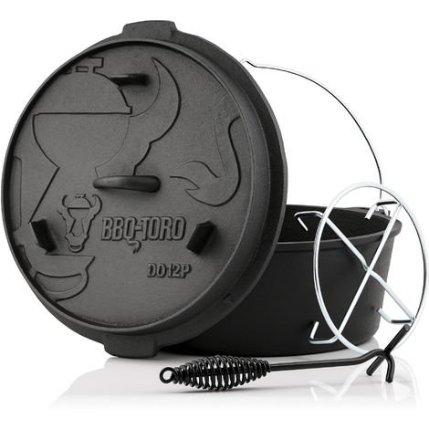 BBQ-Toro Dutch Oven DO12PX, 13.6 L premium cast iron saucepan