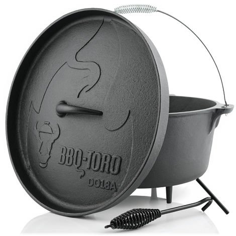 BBQ-Toro Dutch Oven DO18A, 19.0 L Alpha cast iron saucepan, cast iron pot