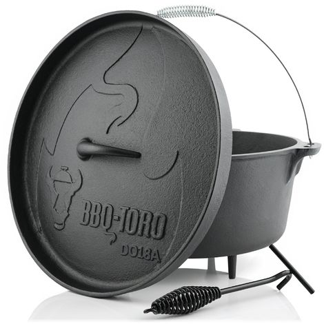 BBQ-Toro Dutch Oven DO18A | 19,0 litres | Alpha marmite en fonte