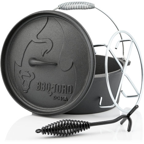 BBQ-Toro Dutch Oven DO45AX, 3.1 L Alpha cast iron saucepan, cast iron pot