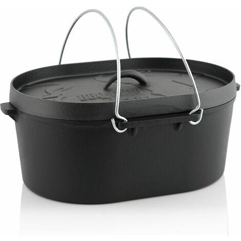 BBQ-Toro Dutch Oven Topf DO10 - 9,3 L Gusseisen Kochtopf, 10 QT Bräter