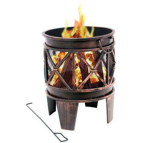 "BBQ-Toro fire basket ""Plum"" | Ø 42 x 52.5 cm | Brazier, fire pit"