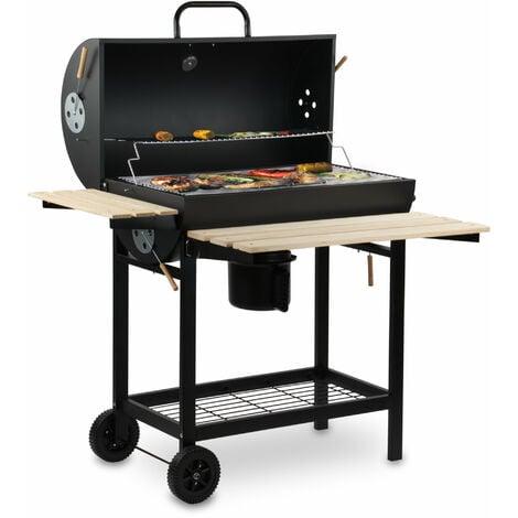 BBQ-Toro Grill à charbon de bois | Fumeur | Chariot de barbecue