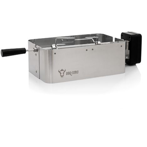 BBQ-Toro grill and spit set suitable for Weber Go Anywhere