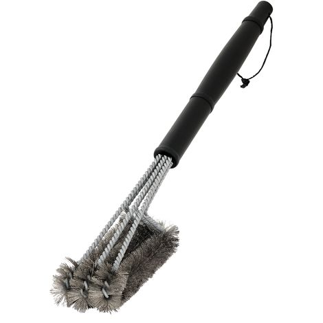 BBQ-TORO grill brush cleaning brush stainless steel bristles in 3 spirals