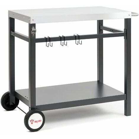 BBQ-Toro grill cart 85x50x81 cm | Side table trolley for grilling