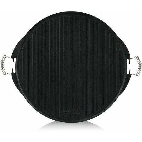BBQ-Toro Gusseisen Grillplatte mit Griffe | Ø 53 cm | emailliert