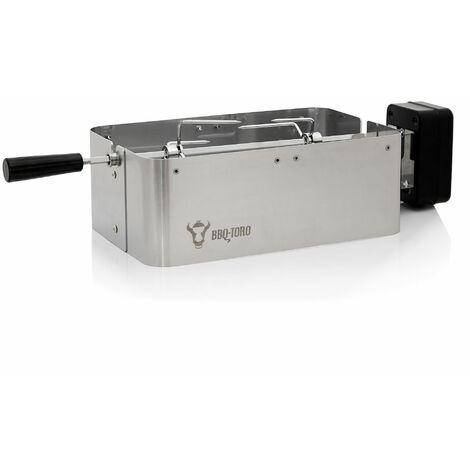 BBQ-Toro Kit de rôtisserie compatible avec Weber Go Anywhere   Acier inoxydable