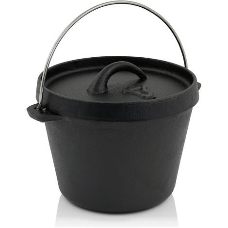 BBQ-Toro Mini Dutch Oven, 800 ml, 1 QT cast iron saucepan, cast iron pot