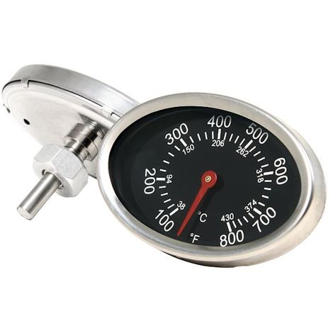 BBQ-Toro oval grill thermometer up to 430 ° C / 800 ° F | for smikers and grill carts