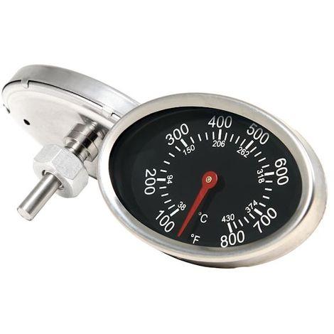 BBQ-Toro Ovales Grillthermometer bis 430 °C / 800 °F | für Smiker und Grillwagen