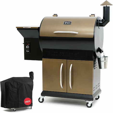 BBQ Toro Pellet Smoker Grill PG1 | Black - Gold | Pellet grill