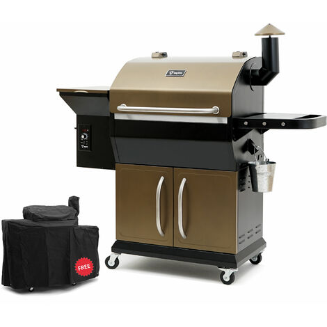 BBQ Toro Pellet Smoker Grill PG2 | Black - Gold | Pellet grill