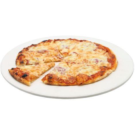 BBQ-Toro Pierre à pizza | Ø 38 cm | Pierre à pizza pour gril à boules et plus