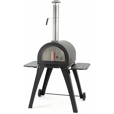 "BBQ-Toro pizza oven ""Havai"" with firebricks, pizza stone oven"