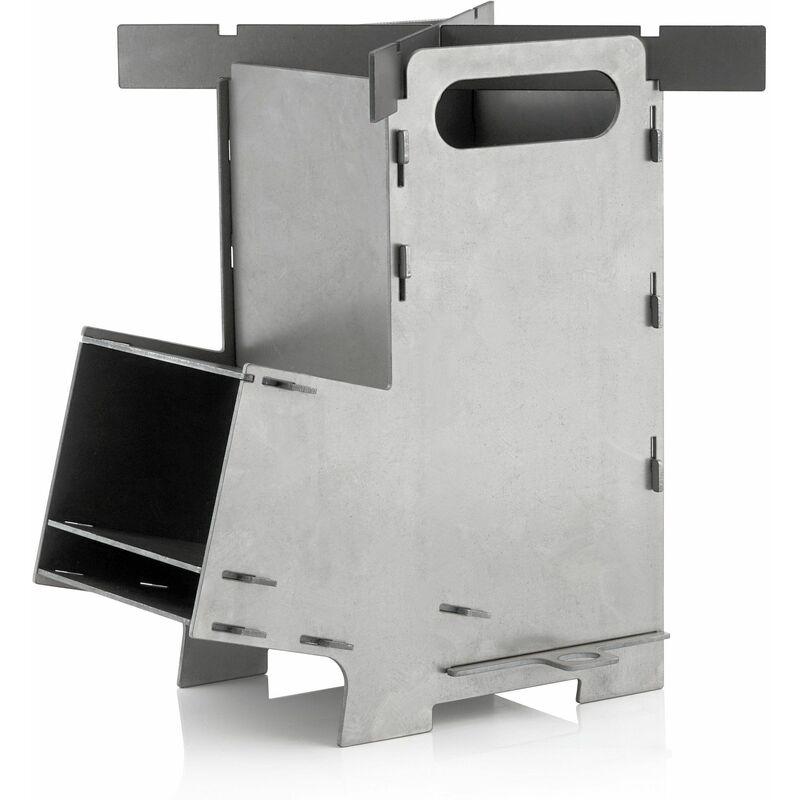 Poêle à fusée #5 | Système d'enfichage de fourneau à fusée en acier - Bbq-toro