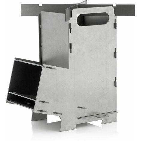 BBQ-Toro Poêle à fusée #5   Système d'enfichage de fourneau à fusée en acier