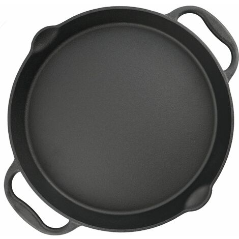 BBQ-Toro Poêle à griller en fonte | Ø 40 cm | Plat de service avec bec verseur
