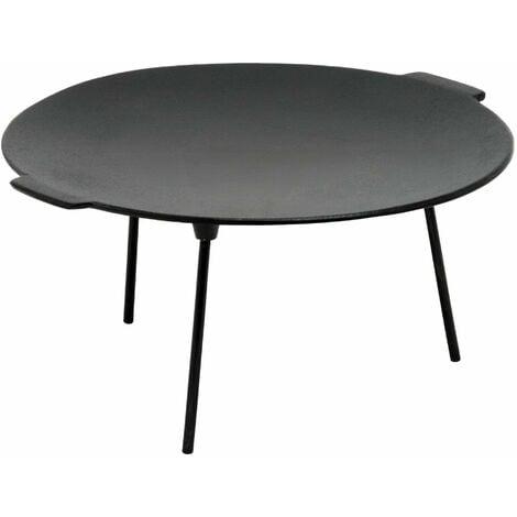 BBQ-Toro Poêle à griller en fonte à 3 pieds | Ø 45 cm - ronde | Support de Dutch Oven | Plaque à griller tripode