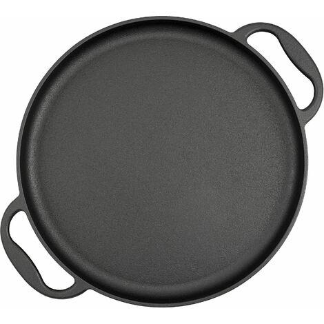 BBQ-Toro Poêle de service | Ø 35 cm - rond | Plaque à griller en fonte, plaque