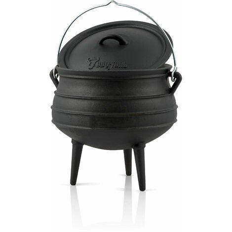 BBQ-Toro Potjie # 2, for 4 - 8 people, 6 litres, cast iron saucepan
