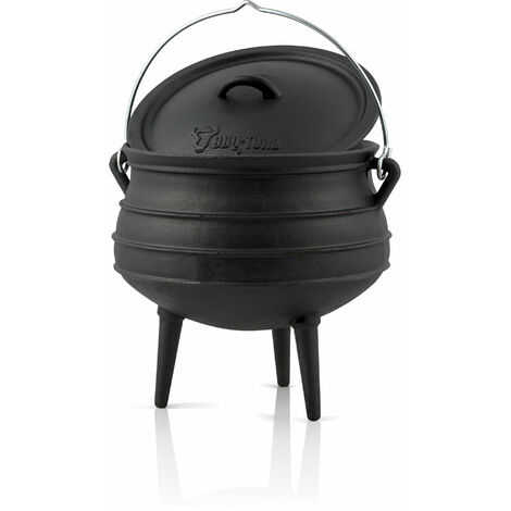 BBQ-Toro Potjie # 3, for 8 - 14 people, 8 litres, cast iron saucepan