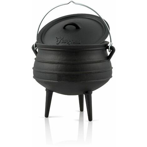 BBQ-Toro Potjie #4 avec pieds   12 litres   Chaudron de sorcière en fonte   Pot