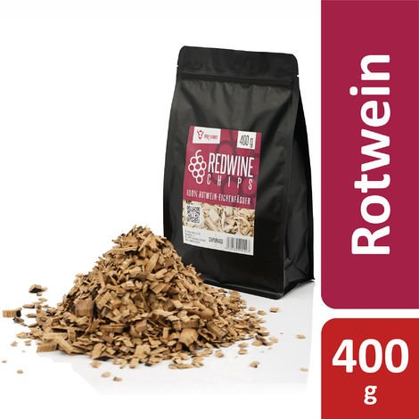 BBQ Toro Redwine Smoker Chips | 400 g | from 100% red wine oak barrels