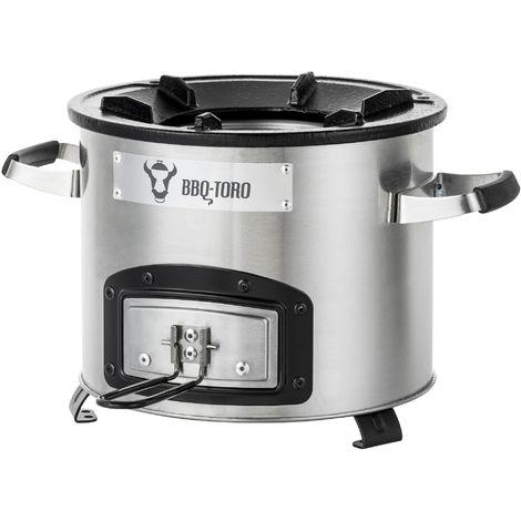 BBQ-Toro rocket oven RAKETE # 1, stainless steel rocket stove