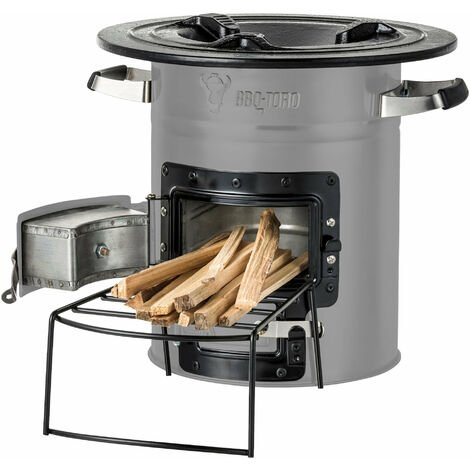 BBQ-Toro rocket oven RAKETE # 2, gray, Rocket Stove