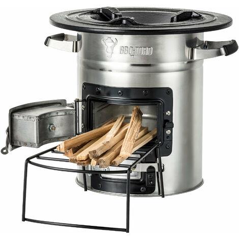 BBQ-Toro rocket oven RAKETE # 2, stainless steel rocket stove
